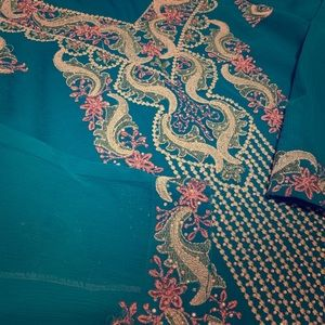 38dcdd7d8052fb Dresses & Skirts - Beautiful Embroidered Teal and Pink Kurta
